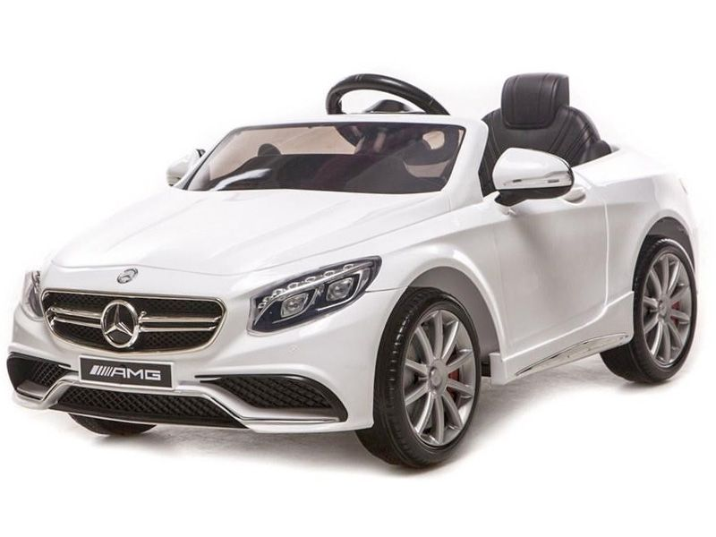 toyandmodelstore kids electric cars mercedes s class amg official replica toy 12v motorised sit and ride on toy white
