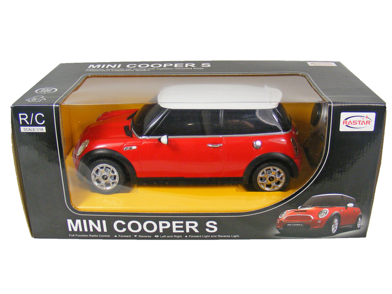 toyandmodelstore remote control car mini cooper 1 18 scale official rc model. Black Bedroom Furniture Sets. Home Design Ideas