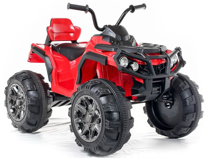 big atv red kids electric quad bike 12 volt battery powered sit and ride on toy. Black Bedroom Furniture Sets. Home Design Ideas