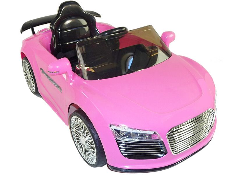 audi r8 supercar style kids electric car pink 12 volt motorised sit and ride in toy
