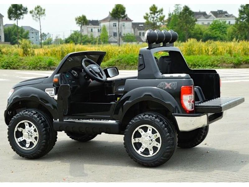 Ford ranger suv official toy jeep black 12v battery for Motorized cars for 10 year olds