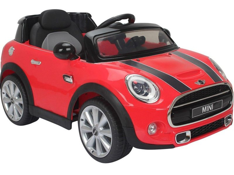 kids electric ride on car red mini cooper official model. Black Bedroom Furniture Sets. Home Design Ideas