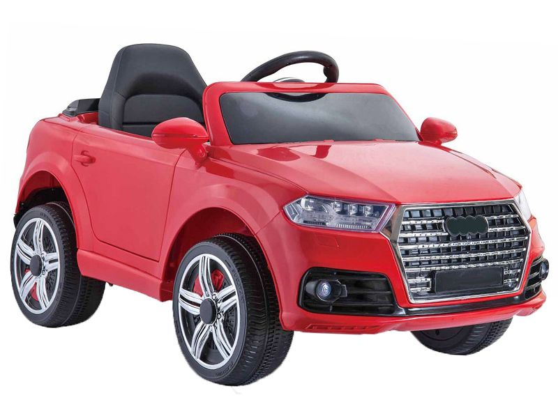 Kids V Red Audi Q SUV Toy Jeep Replica Sit RideIn Car - Audi electric toy car