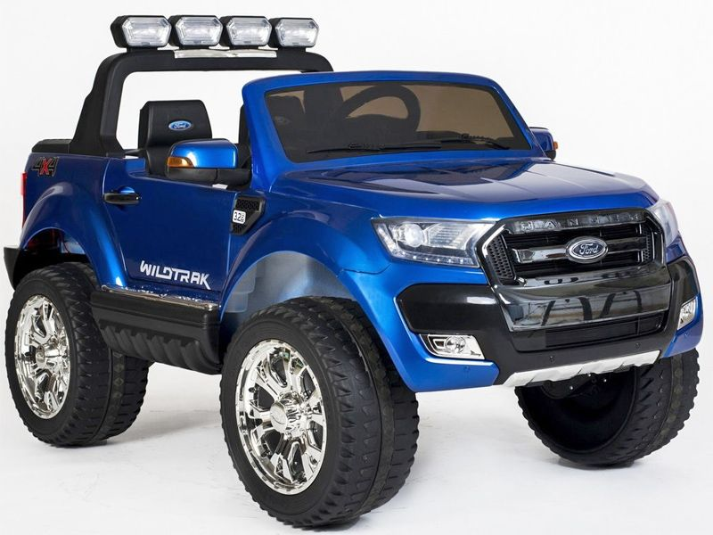 Ford Ranger Wildtrak Toy Jeep Blue Kids Sit Ride In Car 4wd 24v Battery Powered