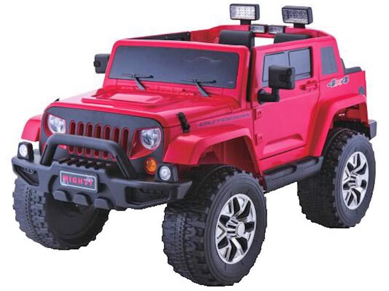 Rubicon Style Jeep Red Kids Sit Amp Ride In Toy Car 4wd