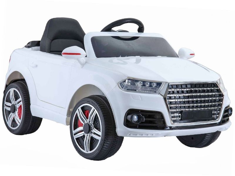 White Audi Q Style Kids Toy Jeep Midi Size Sit RideIn Car V - Audi electric toy car