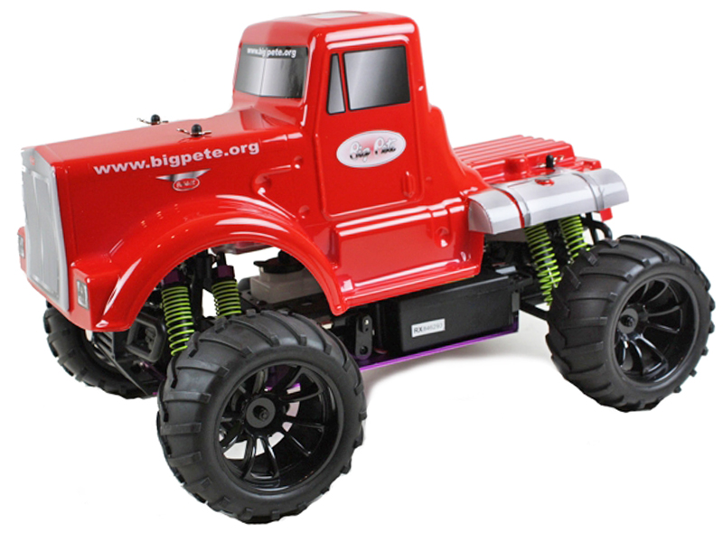 Radio Control Monster Truck BIG PETE Nitro Powered 1:10 Scale 4WD Model