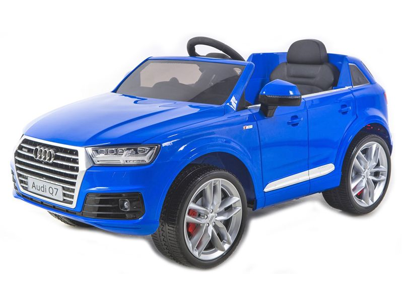 Ride on Car 12v Electric Audi Q7 Official Model with Parental Radio Control  Blue