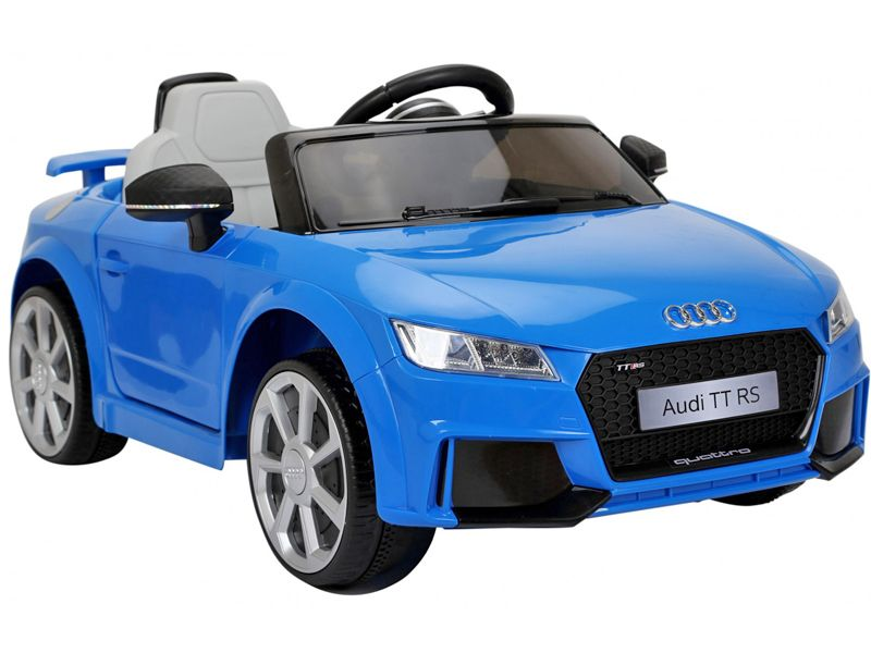 Audi TT RS Official Toy Sports Car BLUE V Battery Powered Kids - Audi electric toy car