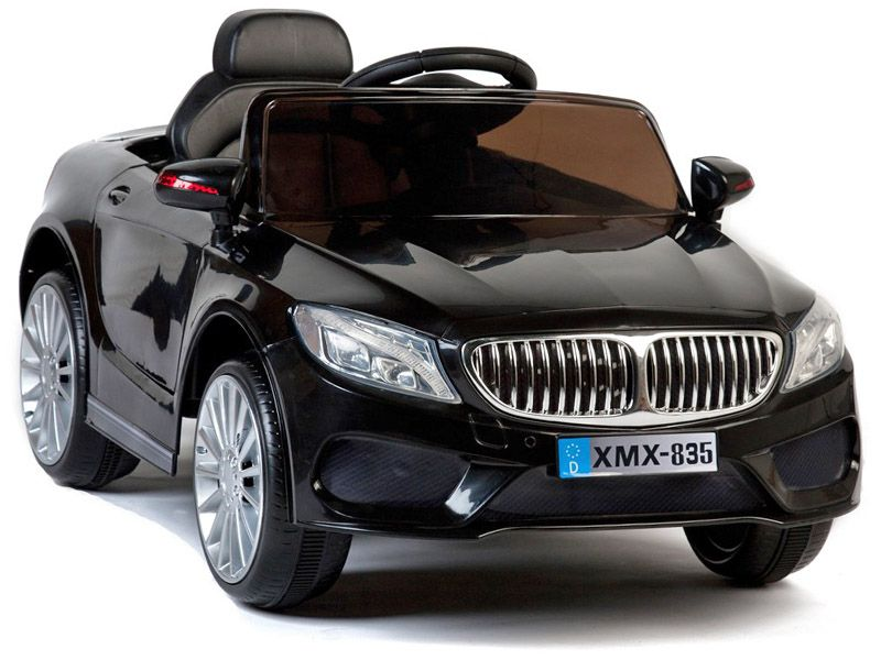 Ride On Car 12v Electric BMW 535 Style Saloon Black Colour With Parental  Radio Control