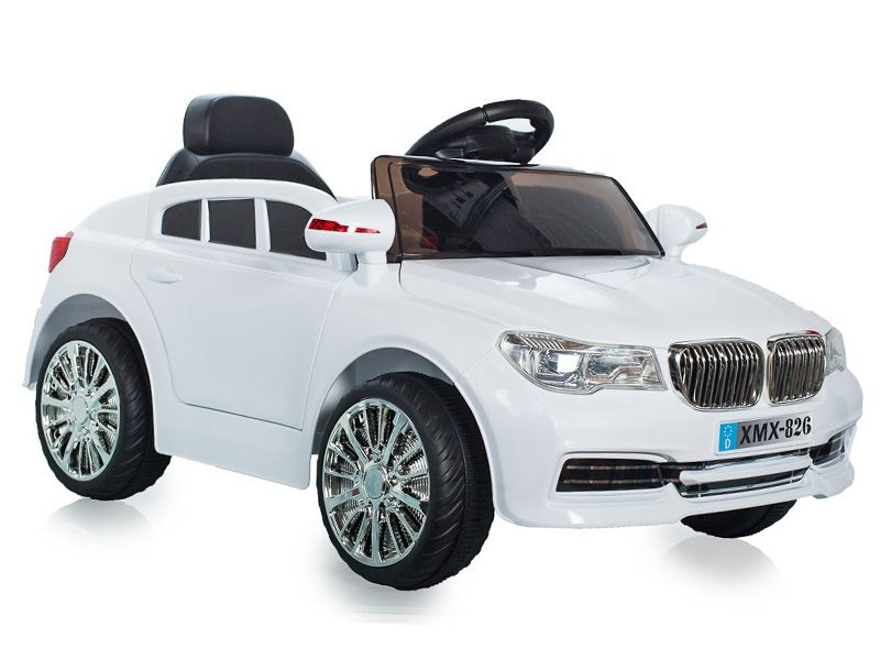 Ride On Car V Electric Bmw X Style Sports Suv White Colour With Parental Radio Control P