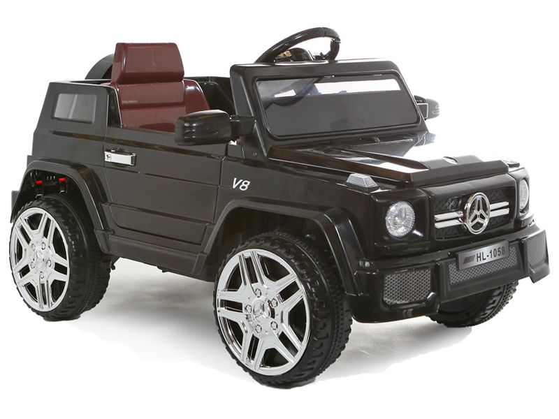 kids ride on jeep black mercedes g wagon 12v battery powered sit and ride in toy car. Black Bedroom Furniture Sets. Home Design Ideas