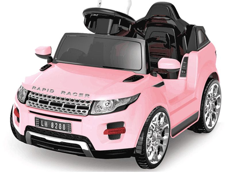Kids Ride On Pink Jeep Evoque Style Suv 6v Battery Powered Sit And