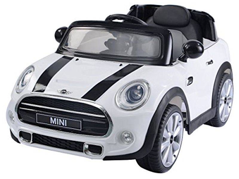 kids electric ride on car mini cooper official model 12v battery powered motorised ride in toy. Black Bedroom Furniture Sets. Home Design Ideas