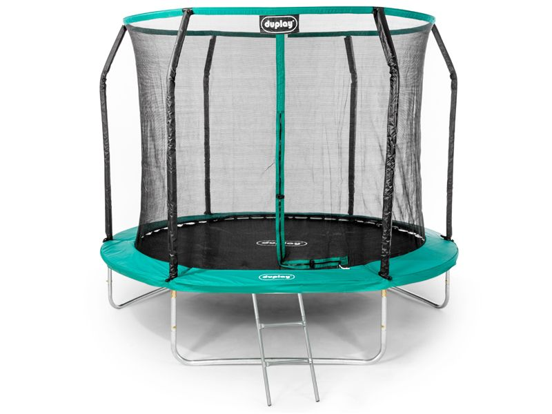 10ft Trampoline With Enclosure Safety Net Steel Frame Uv