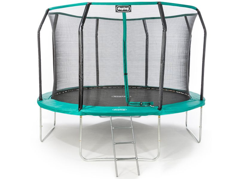 12ft Trampoline With Enclosure Safety Net Steel Frame Uv