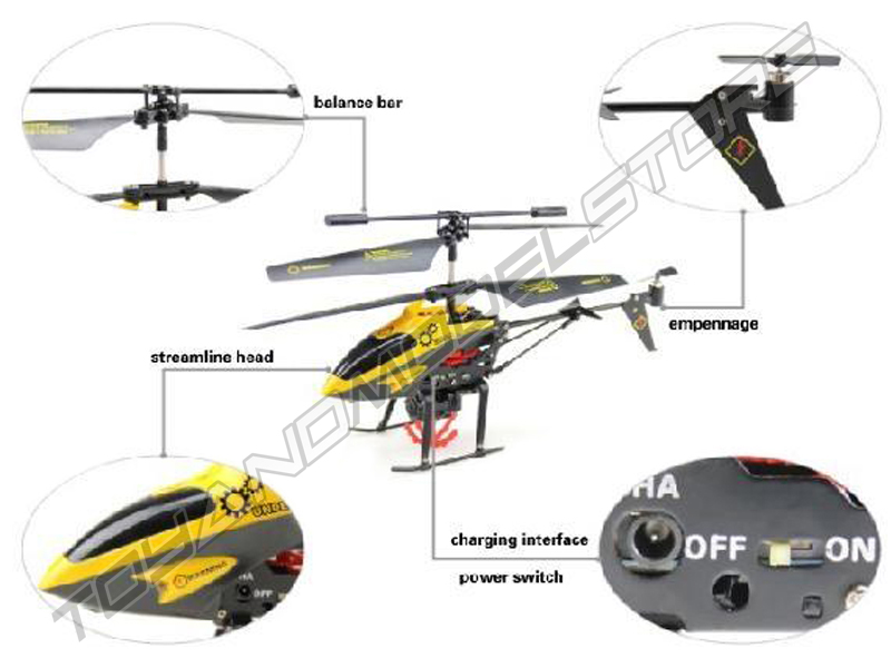 Toyandmiodelstore Remote Control Helicopter V388 Hornet Gyro With Winch Hook And